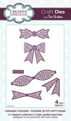 Creative Expressions Filigree 3D Itty Bitty Bow CED1411 Sue Wilson