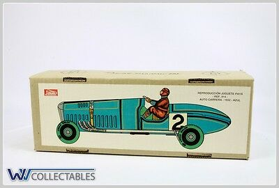 Paya Tin Toy Auto Carrera 1932 Azul Limited Number. New Old Stock