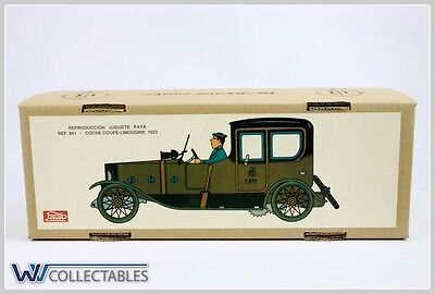 Paya Tin Toy Coche Coupé Limousine 1923 Limited Number. New Old Stock
