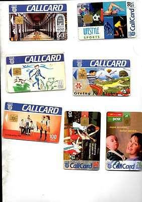 7 Telecom Eirerann Callcards Unused All Different