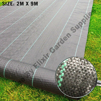 Woven Weed Control Ground Cover Membrane Landscape Fabric Mulch | 2m x 9m