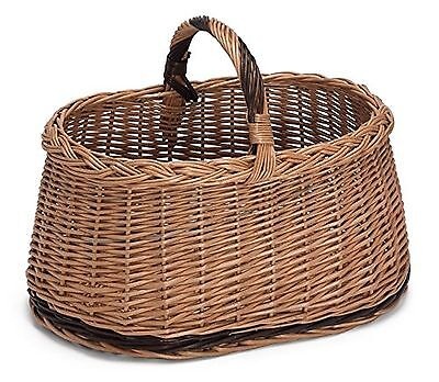 Prestige Wicker Willow Basket with Handle Natural 41 x 27 x 30 cm NEW