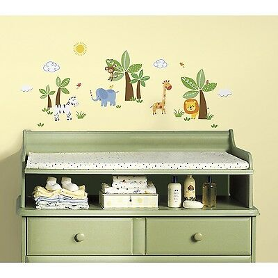 RoomMates Children's Repositonable Disney Wall Stickers Jungle Friends NEW