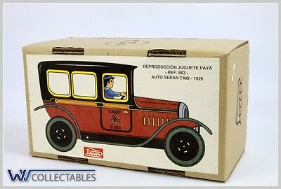 Paya Tin Toy Auto Sedan Taxi 1926 Limited Number. New Old Stock