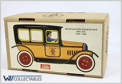 Paya Tin Toy Ref 418 Taxi 1930 Limited Number. New Old Stock