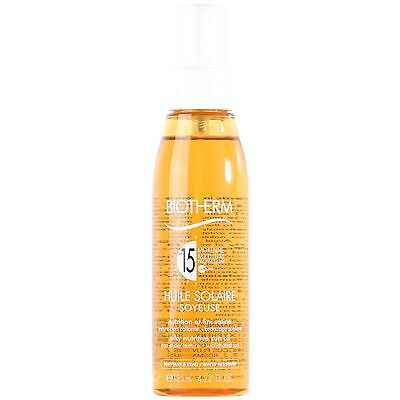 Biotherm Sun Care Huile Solaire Silky Nutritive Oil SPF15 125ml for all