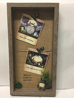 Totoro My Neighbour Home Wall Canvas  Photos Wooden Frame Gift Studio GHIBLI