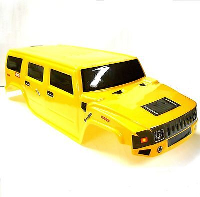 08913 Off Road Nitro RC 1/8 Scale Monster Truck Body Shell Cover Yellow Cut