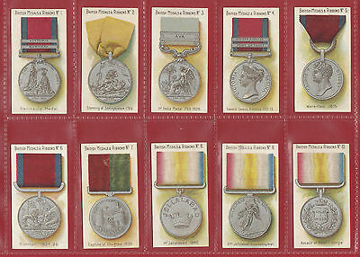 Taddy & Co.  -  Extremely Rare Set Of  50 British Medals & Ribbons Cards -  1912