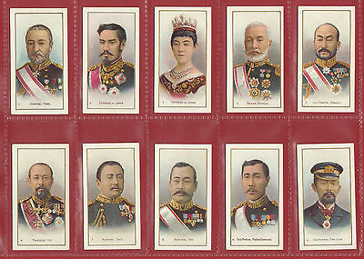 Taddy & Co.  -  Extremely Rare Set Of  25 Russo Japanese War 1St Cards - 1904