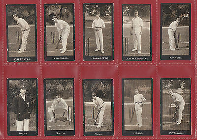 Cricket - F. & J. Smith - Extremely Rare Set  Of  50  Cricketers  Cards  -  1912