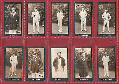 Cricket - F. & J. Smith - Extremely Rare Set  Of  20  Cricketers  Cards  -  1912
