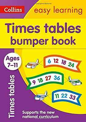 Times Tables Bumper Book Ages 7-11 (Collins Easy Learni - Paperback NEW Collins