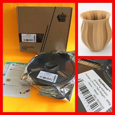POLYMAKER (Polymakr) PolyWood 3D Printing Filament 175 mm Diam 600g WOOD COLOR