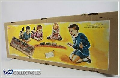 Paya Tin Toy Ferrocarril Viajeros Resorte 1933 Limited Number. New Old Stock