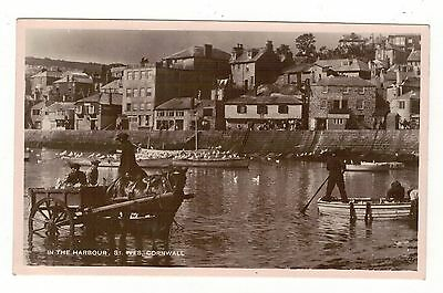 In The Harbour. St.ives.  . Old R.p Postcard