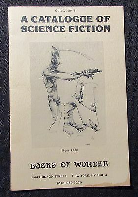 Vintage BOOKS OF WONDER Catalogue #3 Science Fiction VG 4.0 32pgs