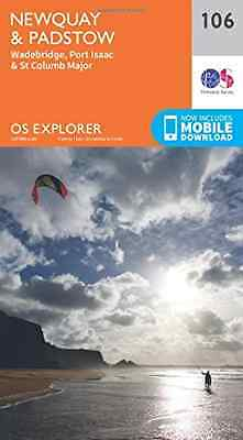 OS Explorer Map (106) Newquay and Padstow - Map NEW Ordnance Survey 2015-09-16
