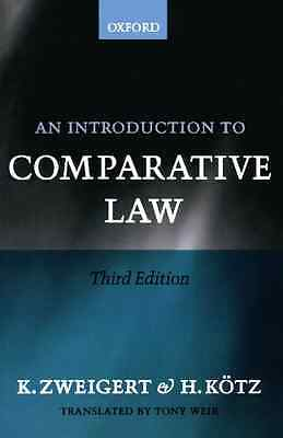 An Introduction to Comparative Law - Paperback NEW Zweigert, Konra 1983-10-27