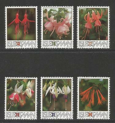 Isle of Man 1988 Fuchsias--Attractive Flower Topical (371-76) MNH