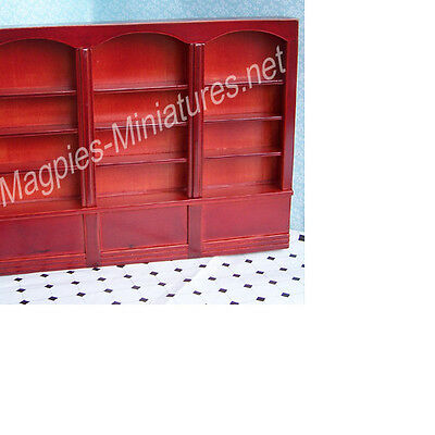 Dolls House 12th scale Large Shop Library Shelves - Mahogany