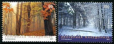 MACEDONIA Sc.# 564-65 Europa 2011 Forests Stamps