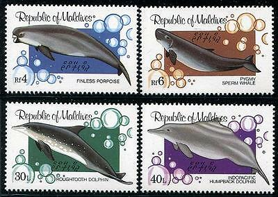 MALDIVES Sc.# 985-88 Whale, Dolphin, Porpoise Stamps