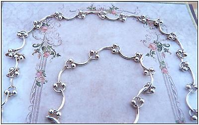 """Ladies Sterling Silver Linked Beaded 16"""" necklace and bracelet set unusual gift."""