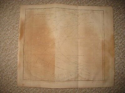 Antique 1835 Hurricane Florida South North Carolina Map Outer Banks West Indies