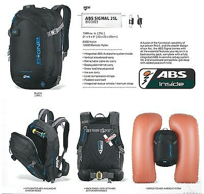 NEW Dakine ABS Signal Avalanche Airbag Backcountry Backpack w/canister Msrp$1250