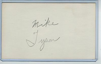 Mike Tyson Index Card Signed 1972-81 Cardinals Cubs Psa/dna Certified