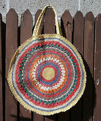 Vintage 1940's Woven Purse Bag Handbag Made in Occupied Japan