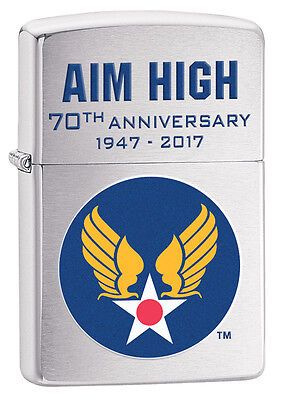 Zippo 29180, HAP Arnold Wings-70th Anniversary, Army Air Corps, Chrome Lighter