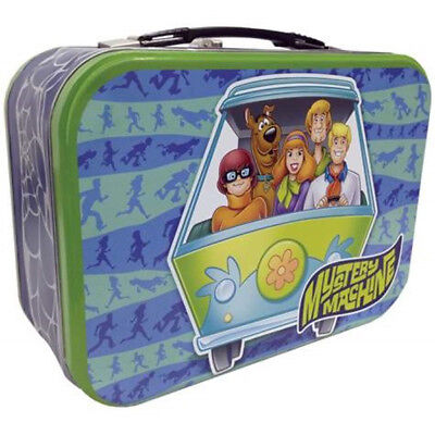 Scooby-Doo Mystery Machine Collectible Metal Tin Tote Lunchbox, NEW UNUSED