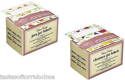 100 Kitchen Craft Homemade Jam, Chutney, Pickle & Preserve Jar & Bottle Labels