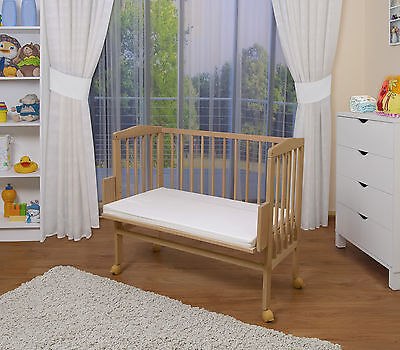 WALDIN Baby Co-sleeper bed,Cradle Baby bed, with Mattress, adjustable in height