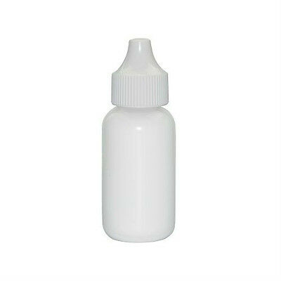 1 oz (30 ml) WHITE LDPE Plastic Dropper Bottles for e-cig (Lot of 25)