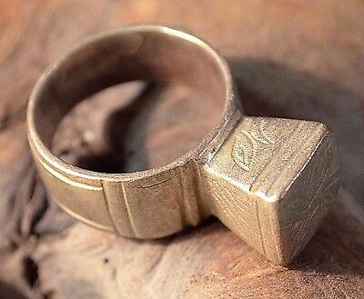 Antique African Tuareg Tribal Ethnic Sliver Tribal Ring Niger Africa Ring Size 9