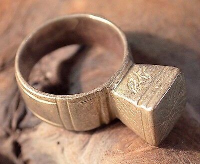 Antique African Tuareg Tribe Ethnic Silver Tribal Ring Niger Africa Ring Size 9