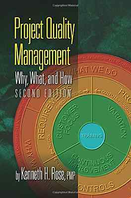 Project Quality Management: Why, What and How - Paperback NEW Kenneth Rose(Au 20