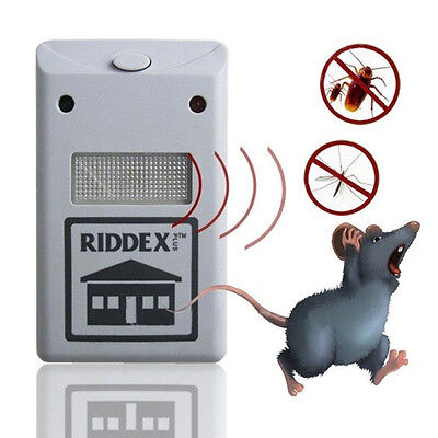 New Electronic AP Riddex Pest Rat Insects Rodent Plus Ultrasonic Repeller