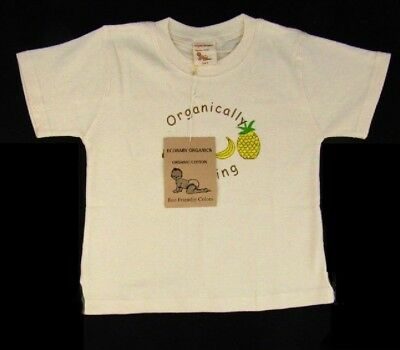 "T-Shirt ""Organically Growing"" Fruit Natural Short Sleeve Cotton 3-4 T"
