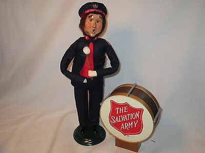 Byers Choice 1999 Salvation Army Base Drummer with Drum