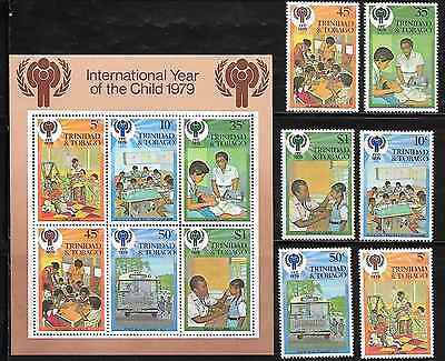 Trinidad and Tobago 302-7, 302A Year of the Child Mint NH