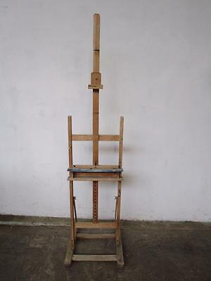 C50040 Large Vintage Timber Painters Artist Painting Easel