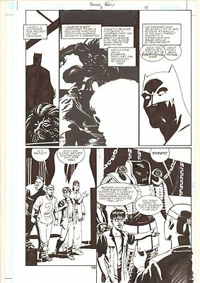 Batman: Family #6 p.16 - Batman and Suit of Armor - 2003 art by Stefano Gaudiano