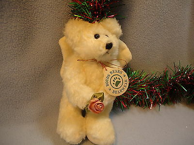 NEW Early 1990s BOYDS BEARS White Angel Bear Ornament BEARWEAR Never Displayed