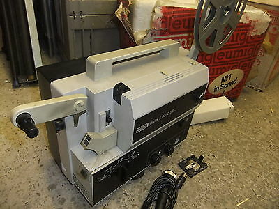 Cine film projector EUMIG S-802D SOUND super 8 & standard 8mm + BOX instructions