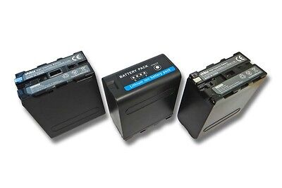 3x BATTERY 10400mAh 7,4V FOR Sony NP-F990