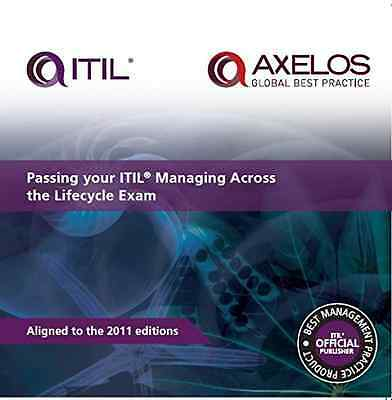 Passing your ITIL managing across the lifecycle exam - Paperback NEW Orr, Anthon